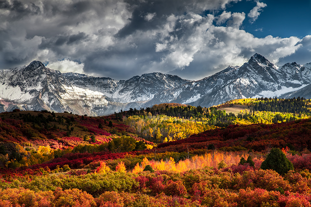 Sneffels Mountain Range during Peak Fall. Colorado.