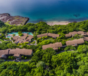 Luxury Hotel Drone Photograph of the Andaz Papagayo. Aerial captured using a drone. Luxury Hotel Photography.