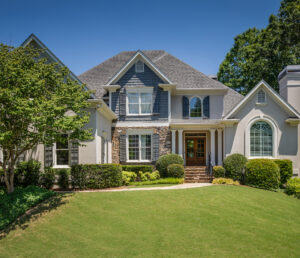 Exterior of a luxury home outside of Atlanta, Georgia. Luxury Residential Real-Estate.