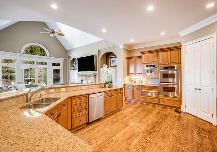 Kitchen of a luxury home near Atlanta, Georgia. Natural and artificial light was used on this luxury interior real-estate shoot. Atlanta Real Estate Photography