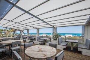 The new restaurant at the Nobu Hotel Miami Beach, Malibu Farm.