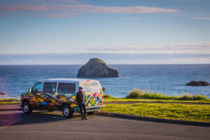 Escape Campervans at Bandon Beach