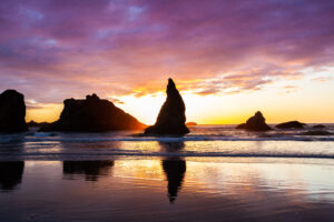 Sunset at Bandon Beach - Bandon, Oregon