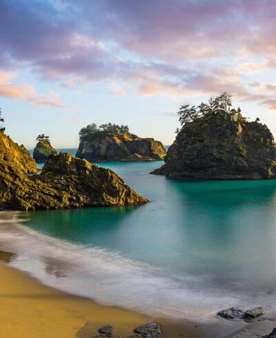 Sunset at Secret Beach - Oregon Coast