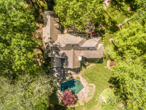 Aerial Photograph of Luxury Residential Real Estate Property in Atlanta, Georgia
