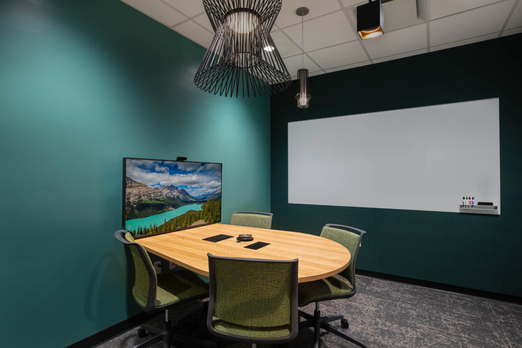 Commercial Architecture Photography. Office Space. Breakout room.