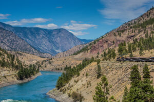 Views while traveling on the Rocky Mountaineer