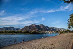 Strolling along the river in Kamloops, Canada