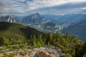 Views of Banff from Sulphur Mountain