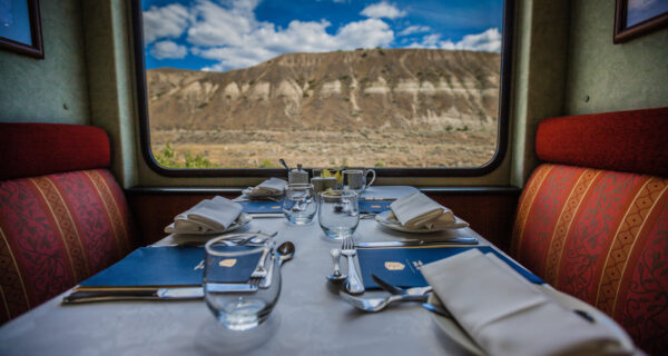 Dining Service aboard the Rocky Mountaineer
