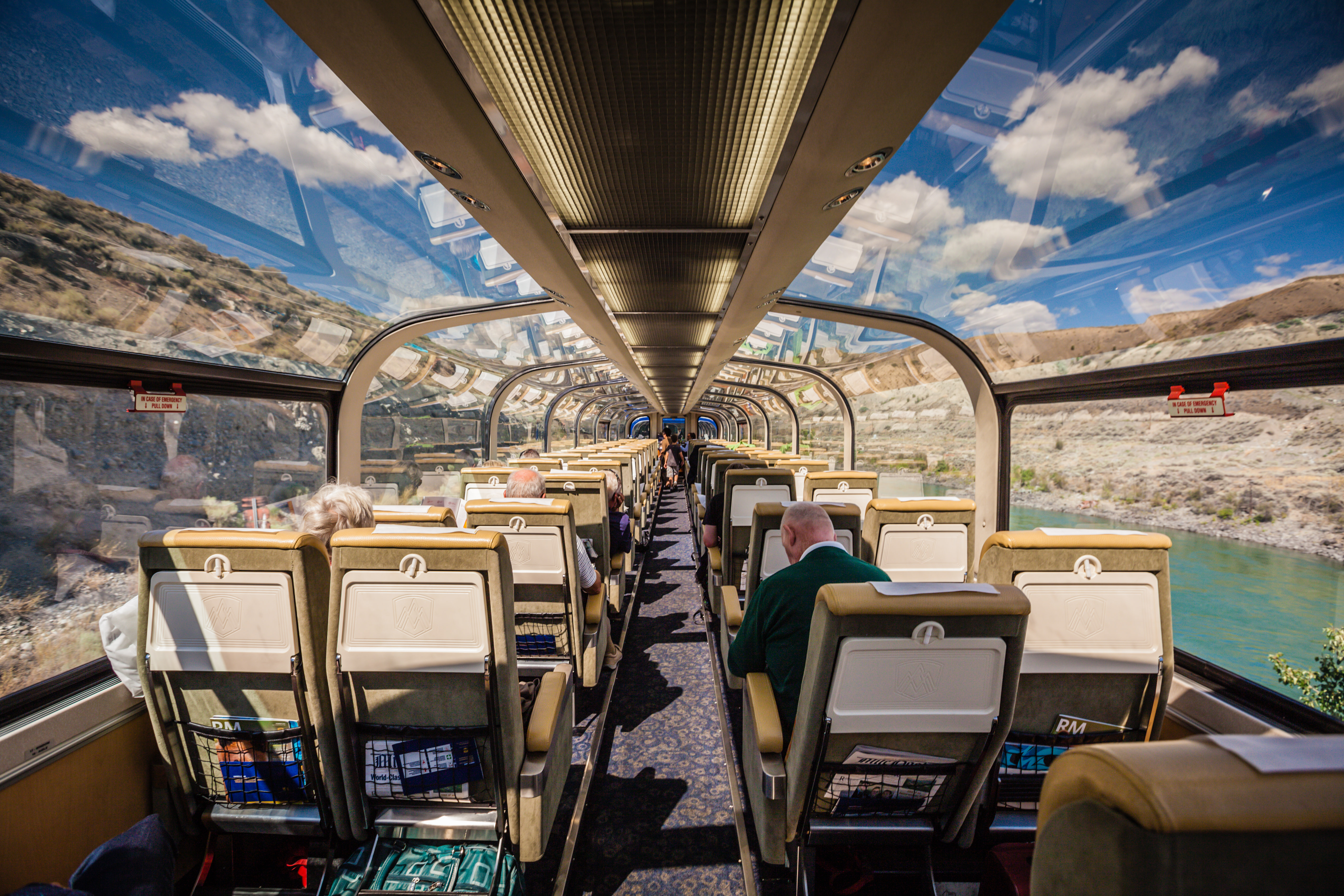 Glass dome of the Rocky Mountaineer
