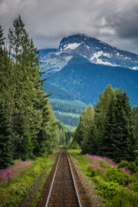 Train views aboard the Rocky Mountaineer