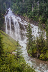 Pyramid Falls, Canada while aboard the Rocky Mountaineer
