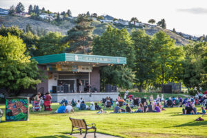 Live music at outdoor concert in Kamloops, Canada