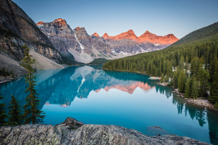 Moraine Lake in Banff Canada, Travel Photography