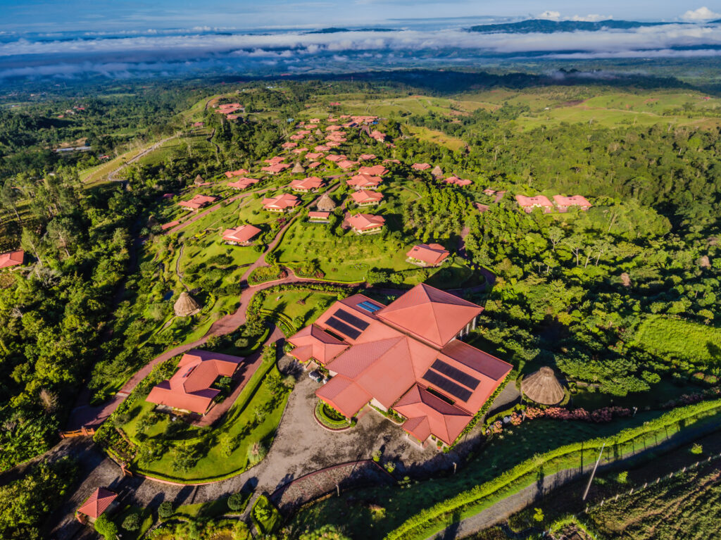 Drone view of Hacienda Alta-Gracia