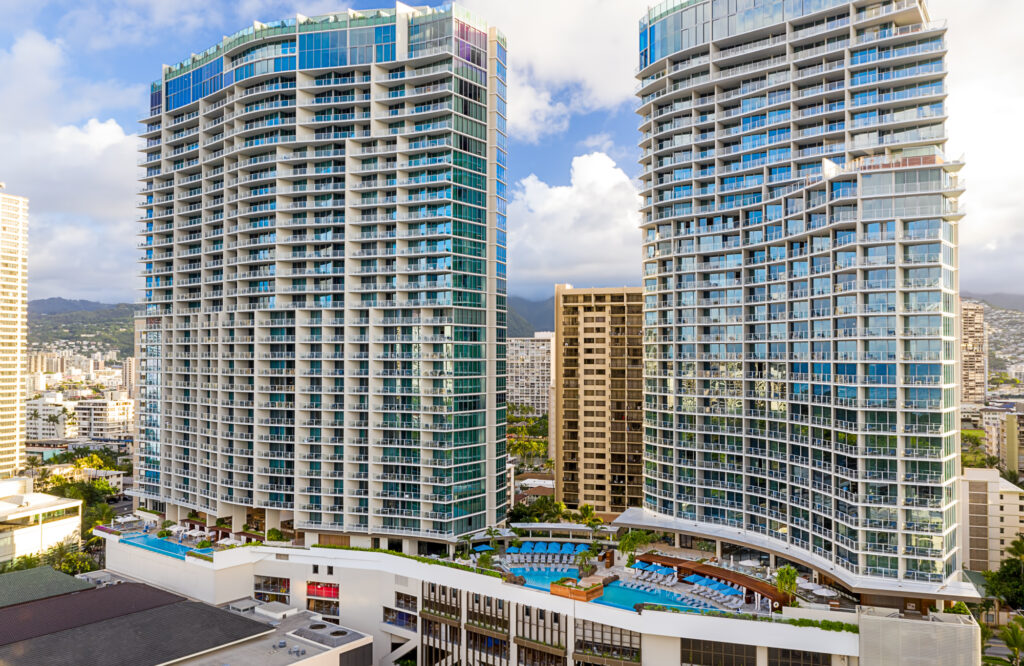 Aerial View of Ritz-Carlton Residences Waikiki