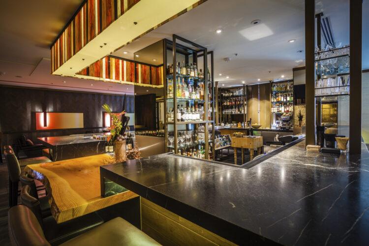 Photograph of a luxury hotel's bar area. Architecture photography. San Francisco, California. Ritz-Carlton San Francisco. Luxury Architecture Photography.