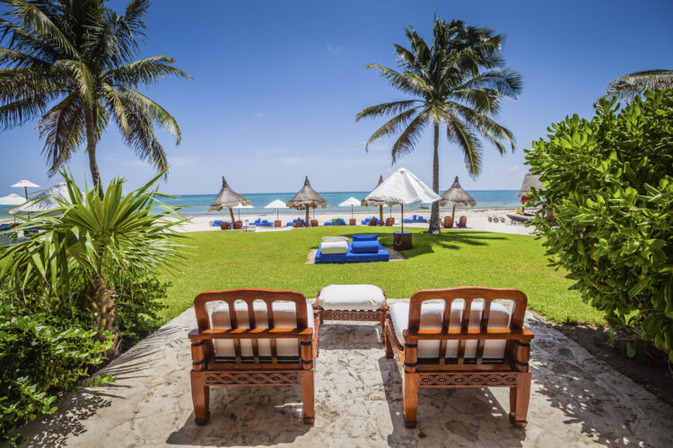 Photograph of a luxury hotel's patio. Architecture photography. Riviera Maya, Mexico. Belmond Maroma Resort & Spa. Luxury Architecture Photography.