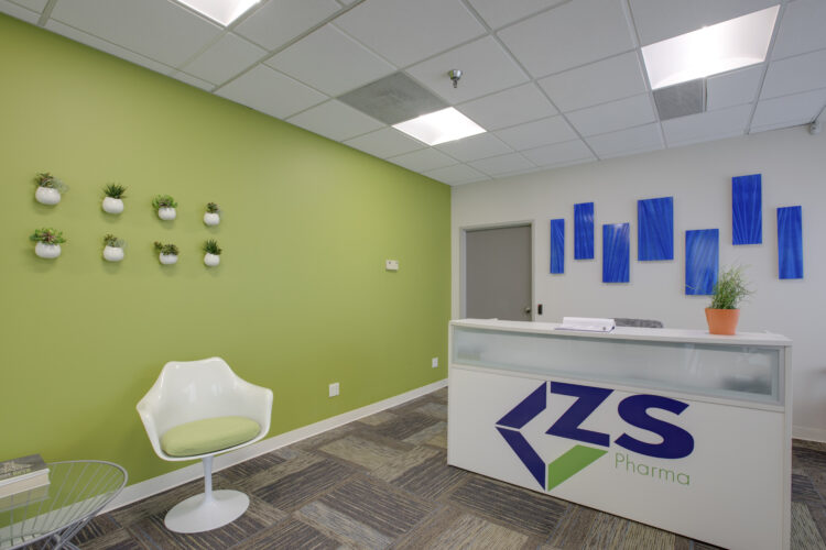 Photograph of a commercial real-estate interior. Architecture photography.