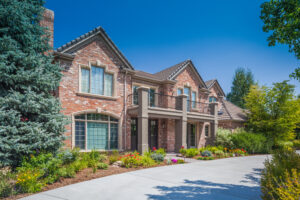 Exterior of a luxury residential real-estate home. Atlanta Real Estate Photography