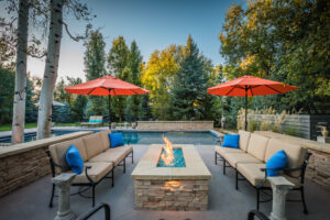 Residential Real-Estate Photograph of a luxury backyard at dusk. Luxury Architecture Photography. Atlanta Real Estate Photography