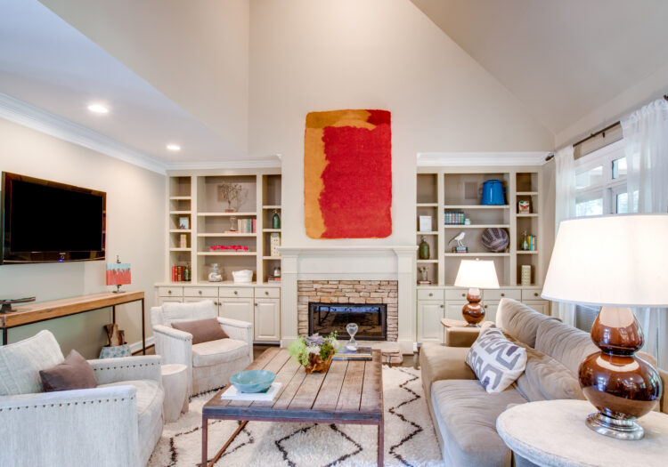 Family room of a home near Atlanta, Georgia during a residential real-estate photography shoot. Atlanta Real Estate Photography