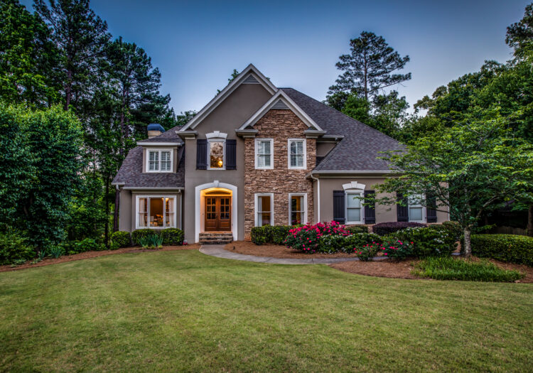 Residential Real-Estate Photograph of a property at dusk. Luxury Architecture Photography. Atlanta Real Estate Photography