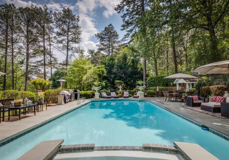 Pool at a luxury residential real-estate home near Atlanta, Georgia. Atlanta Real Estate Photography
