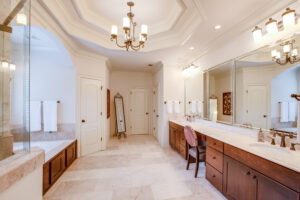 Master Bathroom of a luxury home near Atlanta, Georgia. Natural and artificial light was used on this luxury interior real-estate shoot. Atlanta Real Estate Photography