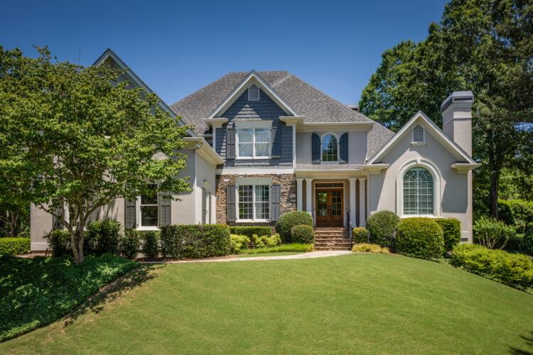 Exterior of a luxury residential real-estate home near Atlanta, Georgia. Atlanta Real Estate Photography