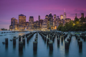 The New York City Skyline at Dusk. Cityscape photography. Travel Photography.
