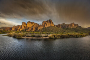 A monsoon storm rolls in over the desert outside of Phoenix, Arizona. Fine Art Landscape Photography. Landscape Photography.