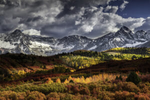 Landscape photograph of the Sneffels Range outside of Telluride, Colorado during fall. Travel Photography.
