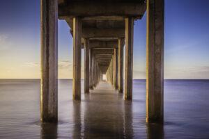 Sunset photo of Scripps Pier. Fine Art Landscape Photography. San Diego, California.